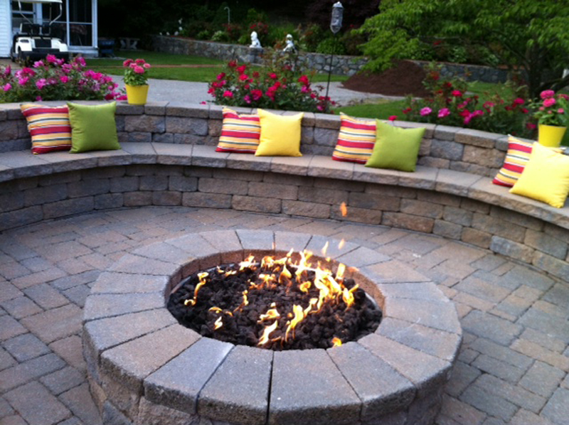 Patio Ideas With Fire Pit On A Budget Photo 2