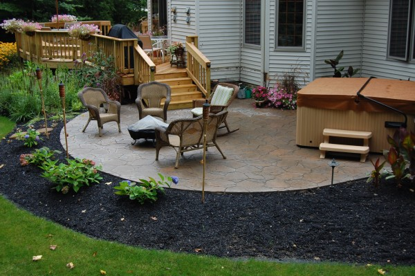 Awesome Patio Off Deck Ideas