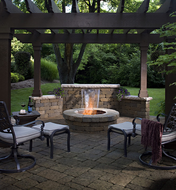 paver fire pit cover  photo - 1