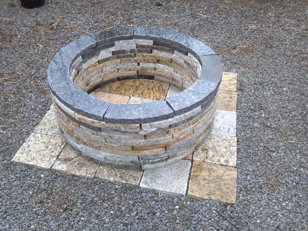 how to make a fire pit with pavers