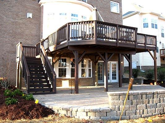 pictures of elevated deck plans photo - 1