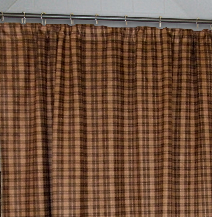 cabin check curtains design and ideas