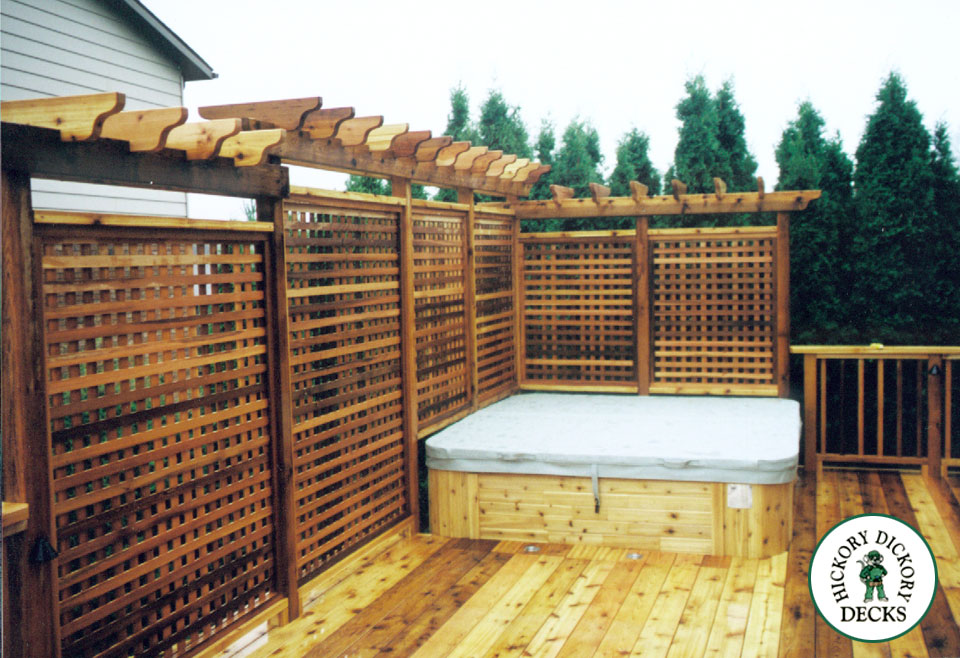 Privacy screen around deck design and ideas for Deck privacy screen plans