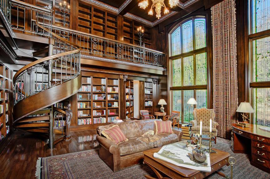 Private Library Design Ideas Classic Library photo - 2