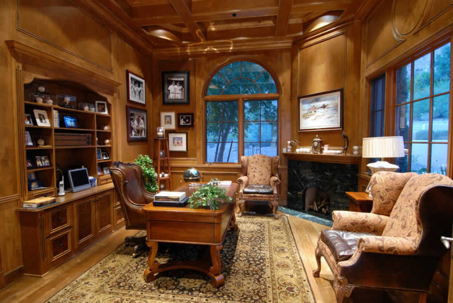 Private Library Design Ideas Comfortable Study photo - 3