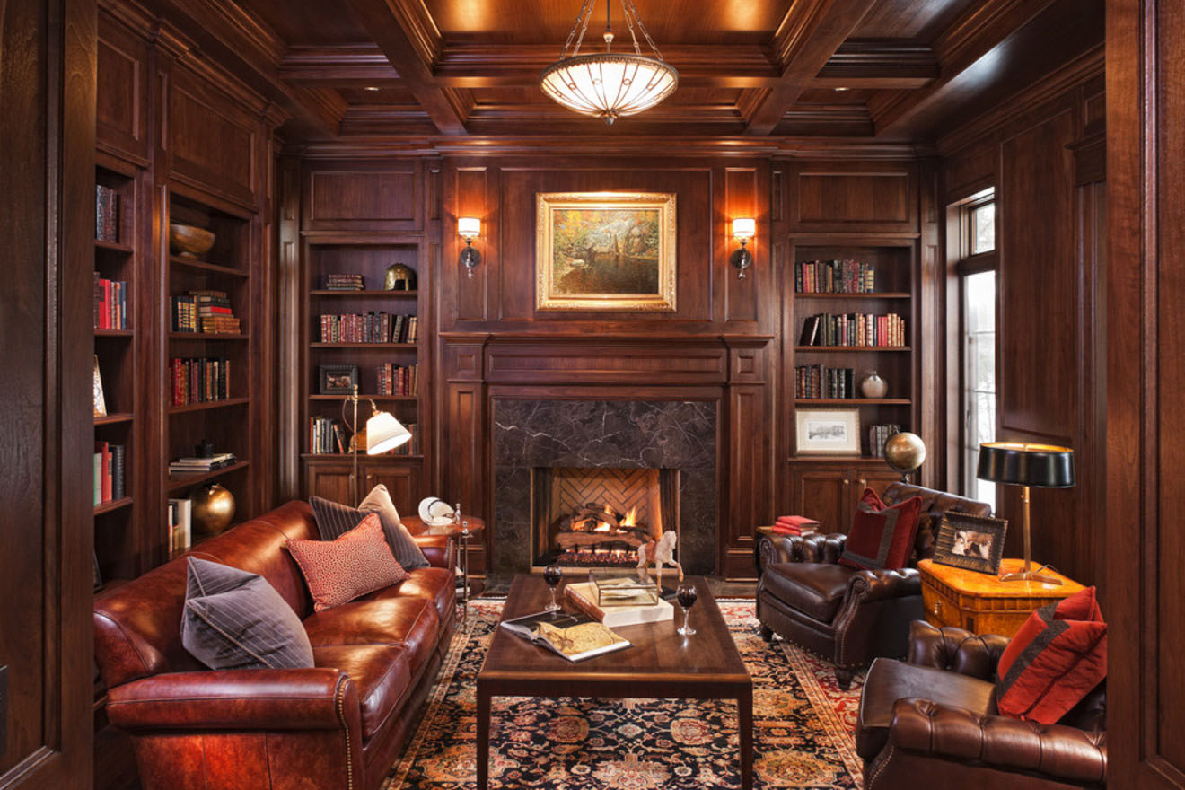 Private Library Design Ideas Dark