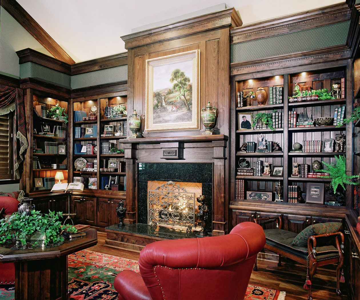 Private Library Design Ideas Family Design photo - 2