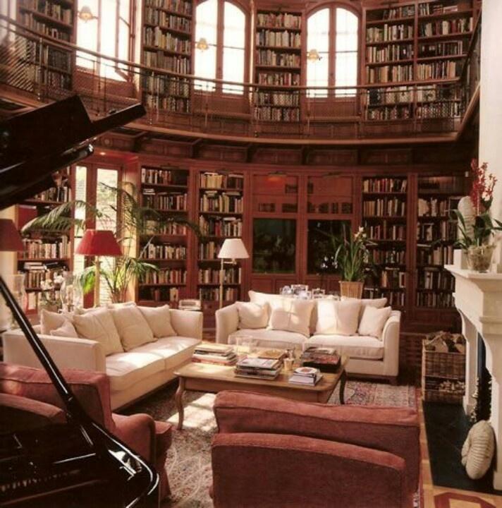 Private Library Design Ideas Grand Library photo - 2