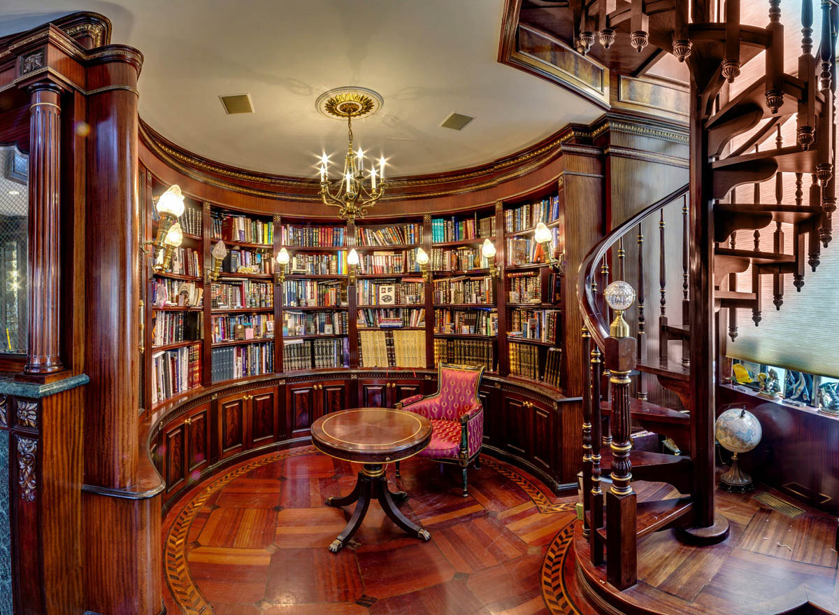 Private Library Design Ideas White Library photo - 3