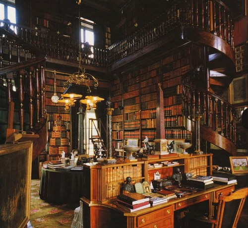 Private Library Design Ideas White Library photo - 2