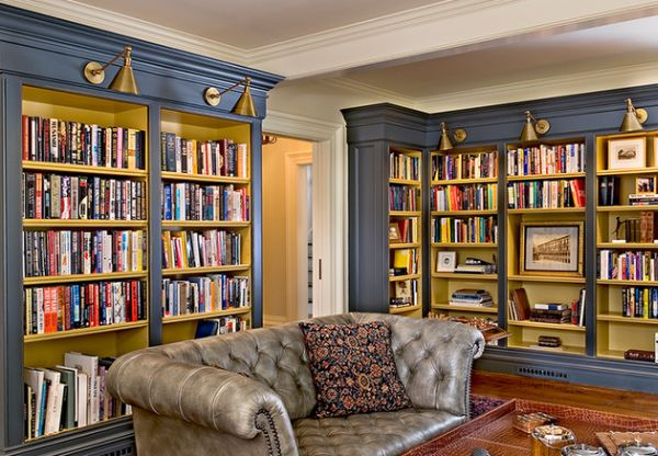 Private Library Design Ideas White Library photo - 1