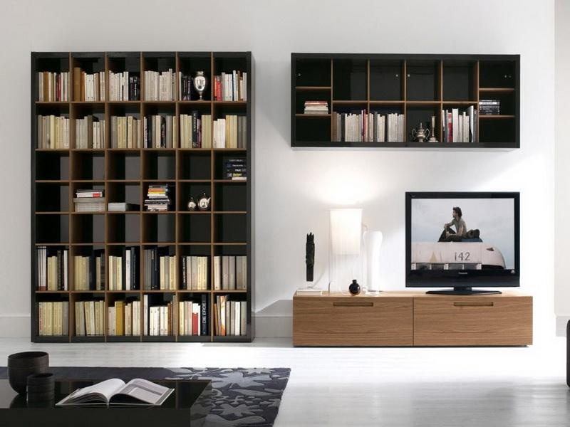 Private Library Furniture Type Modern Wall Bookshelf Design and Ideas