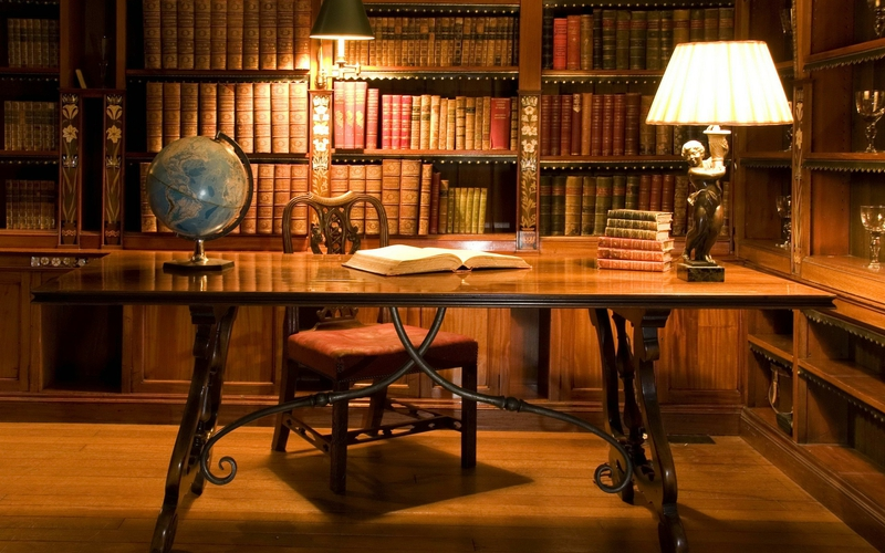 Private Library Lighting Winter White Table Lamps