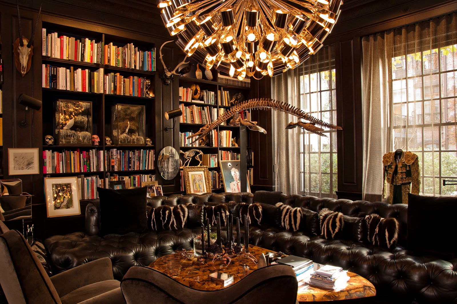 Private library style classic white library design and ideas for Classic home library