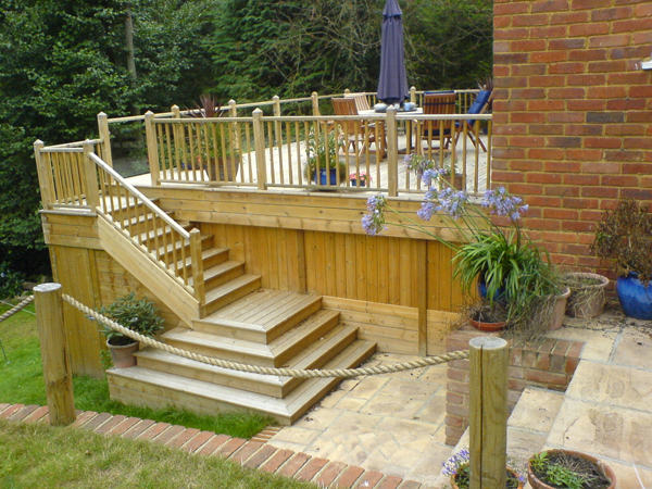 free standing elevated deck plans design and ideas