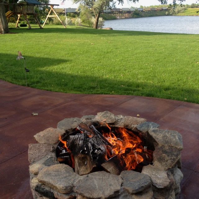 River Rock Fire Pit Explode » Design and Ideas