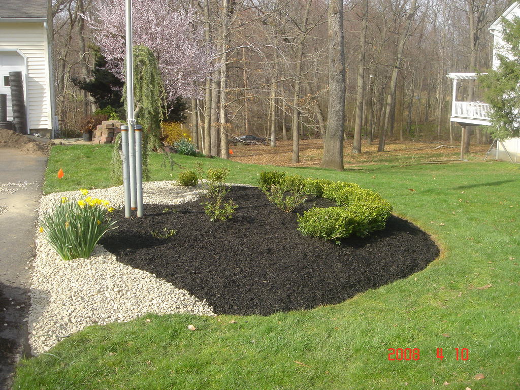 Rock And Mulch Landscaping Ideas Photo