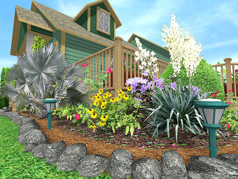 rock border landscaping ideas  photo - 1