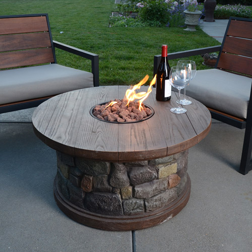 rock fire pits gas  photo - 1