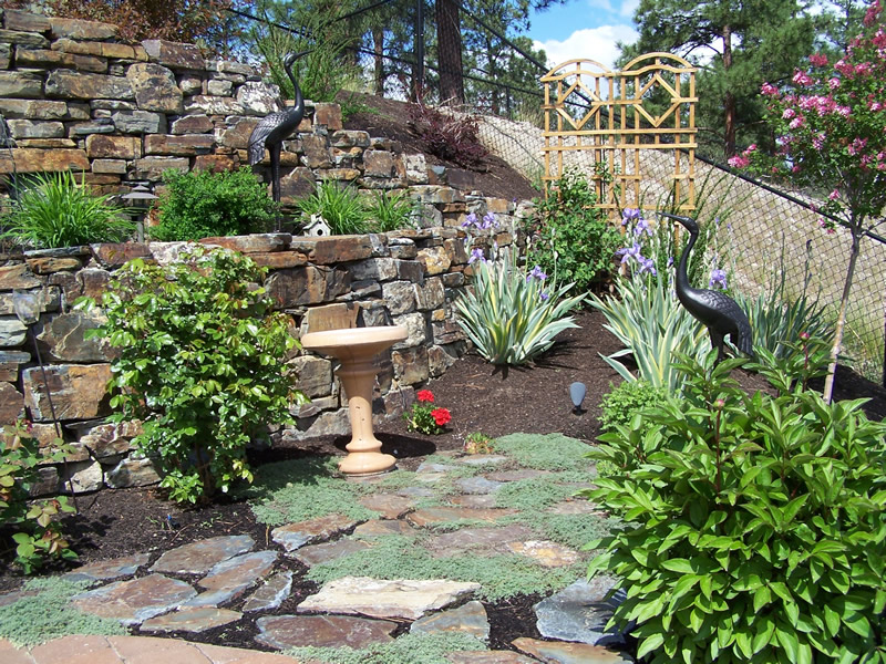 rock wall landscaping ideas photo - 2