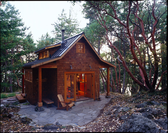 rustic cabin plans with garage  photo - 2