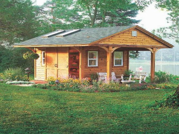 rustic cabin plans with garage  photo - 3