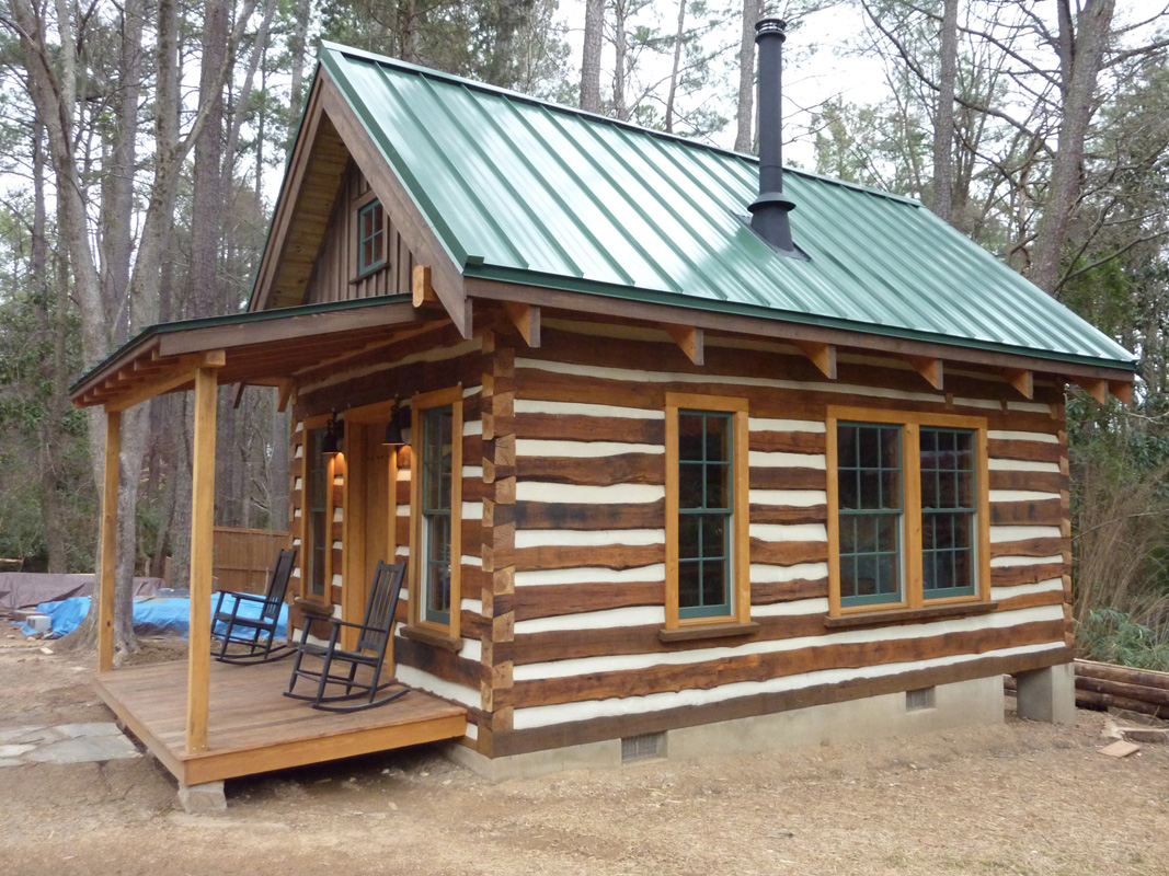 rustic log cabin building  photo - 1