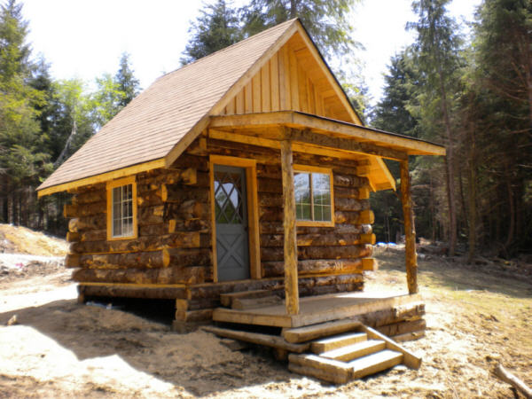 rustic log cabin building  photo - 2