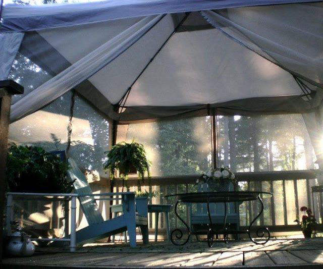 screened in deck canopy