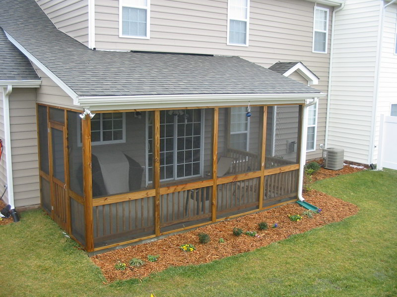 screened in patio designs