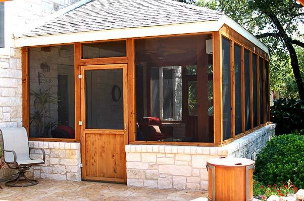screened in patio images