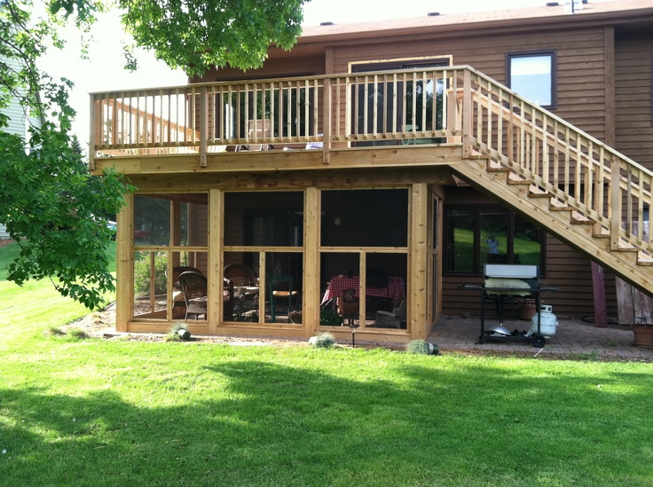 screened in patio under deck design and ideas