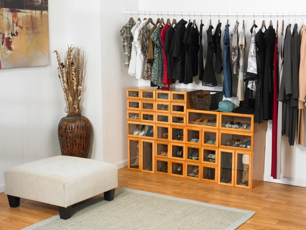 shoe storage ideas small closet  photo - 1