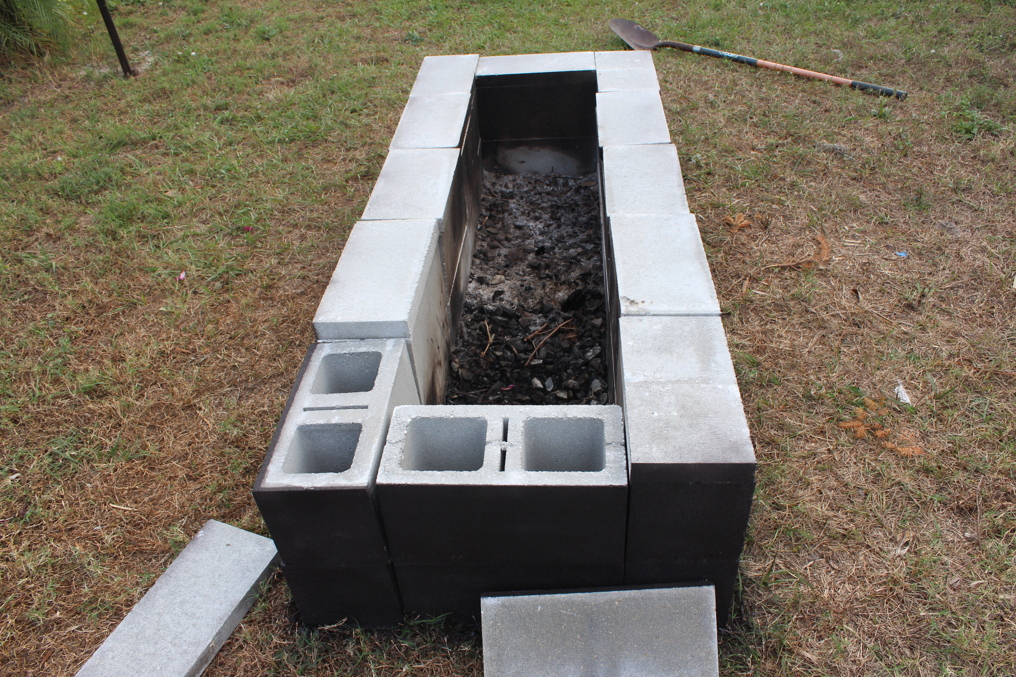 How To Build A Block House Of Fire Pit Stone Block Design And Ideas