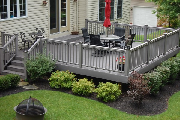 simple landscaping ideas around a deck