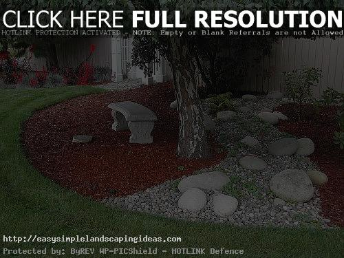 simple landscaping ideas around trees  photo - 2
