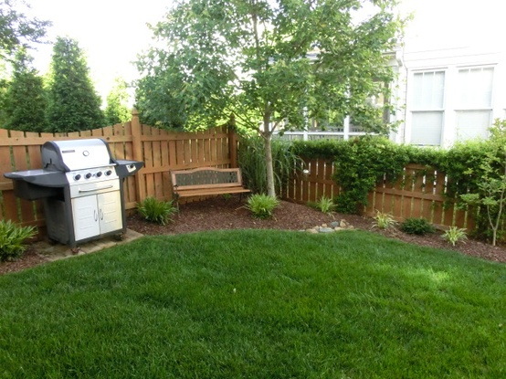 Simple Backyard Design perfect for a small back yard outdoors and garage pinterest yards fences and backyard Simple Landscaping Ideas For Small Yards Photo 1
