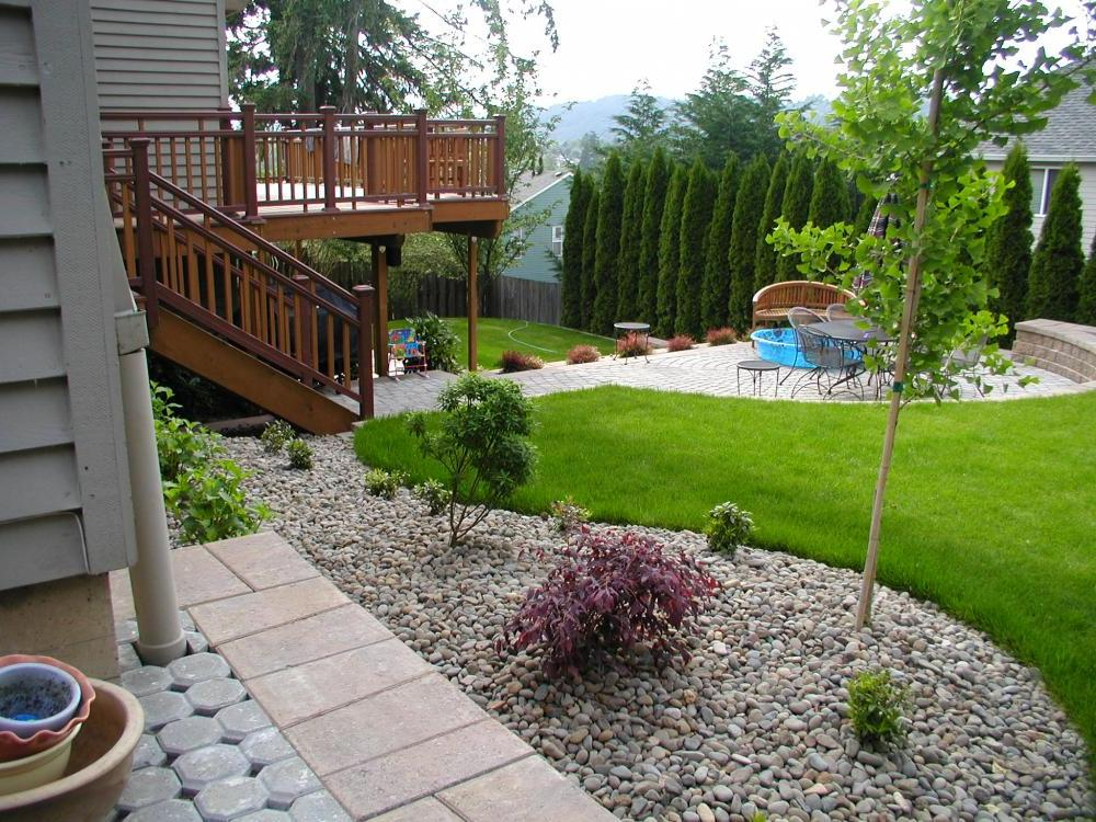 simple landscaping ideas no grass