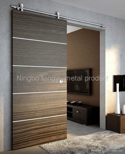 Sliding door hardware wood sliding door design and ideas for Sliding door front door