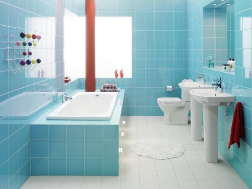 Spa Bathroom Design Ideas Bold Blue Design and Ideas
