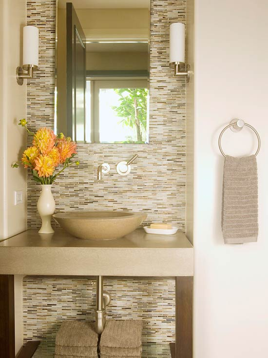 Spa Bathroom Design Ideas Dramatic Tile
