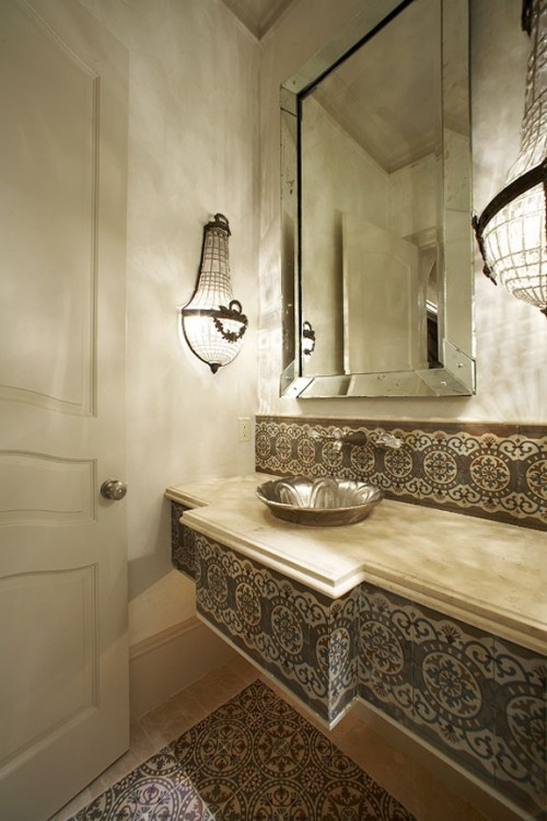 Spa Bathroom Design Ideas Fanciful Powder Room
