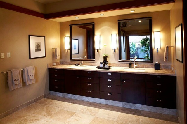 Spa Bathroom Design Ideas Framed Sconces