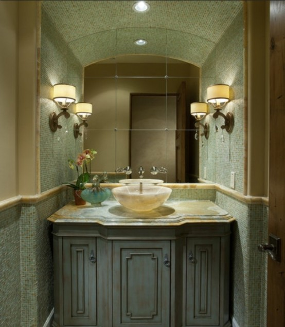 Spa bathroom design ideas lime green bath design and ideas for Lime green bathroom ideas pictures