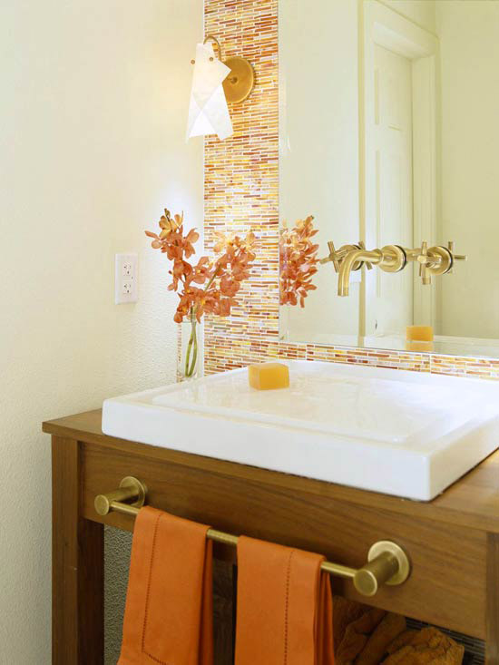 Spa Bathroom Design Ideas Orange Accents photo - 1