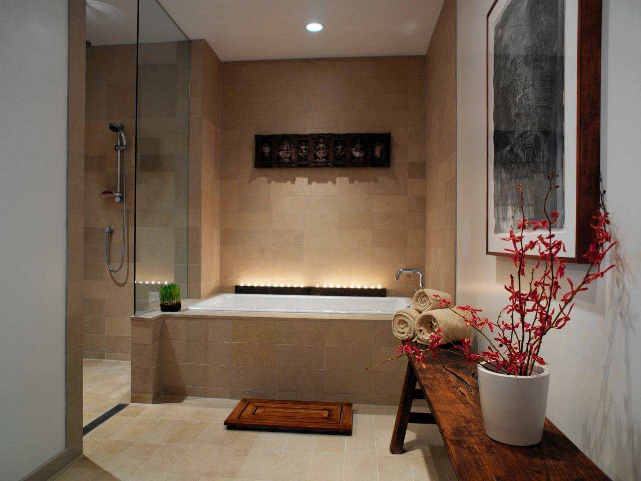 Spa bathroom design ideas romantic master bath design and ideas Romantic bathroom design ideas