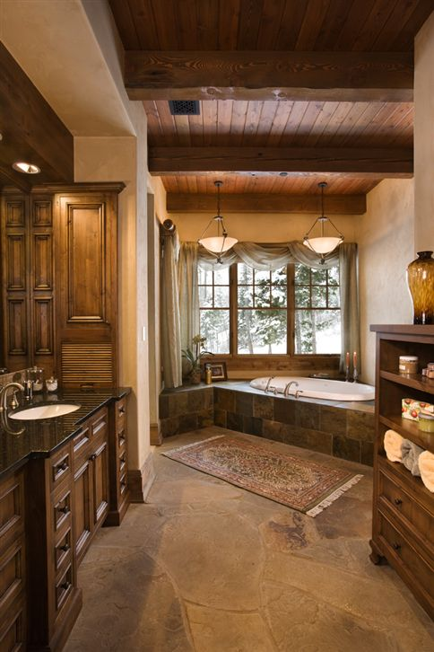 Spa Bathroom Design Ideas Rustic Beauty Photo