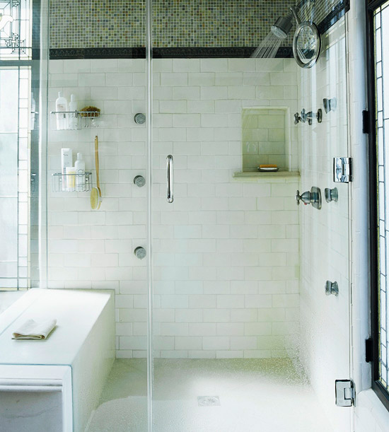 Spa Bathroom Design Ideas Shower with a view photo - 1