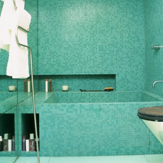 Spa Bathroom Design Ideas Tiled Bathroom photo - 1