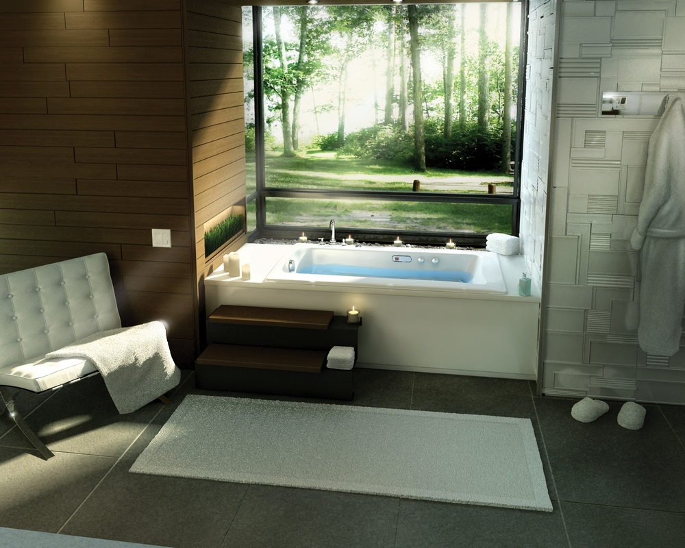 Spa Bathroom Design Ideas Tub With a view photo - 3